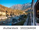 railway to machu picchu and... | Shutterstock . vector #1022264434