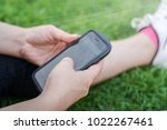 close up view of a girl hands... | Shutterstock . vector #1022267461
