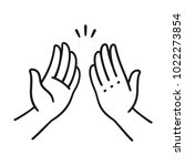 sep of two hands clapping in... | Shutterstock . vector #1022273854