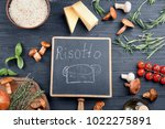 composition with ingredients... | Shutterstock . vector #1022275891