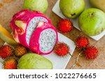 fresh  exotic  organic fruits | Shutterstock . vector #1022276665