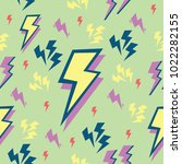 colorful thunder bolts pattern | Shutterstock .eps vector #1022282155