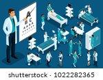 isometrics medicine  doctor ... | Shutterstock .eps vector #1022282365