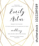 wedding invite  invitation save ... | Shutterstock .eps vector #1022289589