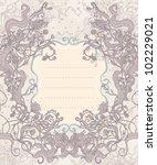 vintage background  baroque...   Shutterstock .eps vector #102229021