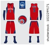 basketball uniform or sport... | Shutterstock .eps vector #1022299171