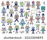 funny wacky doodle unusual... | Shutterstock .eps vector #1022304895
