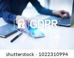 gdpr. data protection...   Shutterstock . vector #1022310994