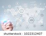 organisation structure chart ... | Shutterstock . vector #1022312407
