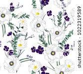 floral seamless pattern... | Shutterstock .eps vector #1022319589
