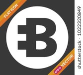 bytecoin sign flat icon for web ...