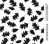 forest leafs. vector balck and...   Shutterstock .eps vector #1022320867
