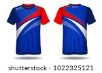 soccer jersey template.red and...   Shutterstock .eps vector #1022325121