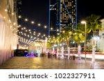 night time at jbr in dubai   Shutterstock . vector #1022327911