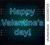 happy valentine's day. the blue ... | Shutterstock .eps vector #1022330725