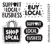support local business concept. ... | Shutterstock .eps vector #1022335429