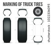marking of truck tires. size...   Shutterstock .eps vector #1022336095