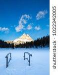 tre cime di lavaredo  dolomites ... | Shutterstock . vector #1022342005