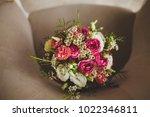 beautiful white wedding bouquet ... | Shutterstock . vector #1022346811