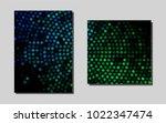 dark blue  greenvector cover...