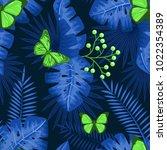 uv ultra violet luminous neon... | Shutterstock .eps vector #1022354389