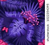 uv ultra violet luminous neon... | Shutterstock .eps vector #1022354395