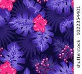 uv ultra violet luminous neon... | Shutterstock .eps vector #1022354401
