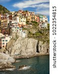 Small photo of Manarola. It is the second smallest town of the famous Cinque Terre towns. Liguria, Italy.
