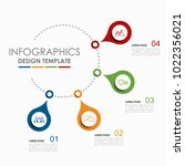 infographic template. vector...   Shutterstock .eps vector #1022356021