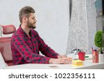 concentrated on work.... | Shutterstock . vector #1022356111