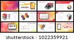 business presentation templates....   Shutterstock .eps vector #1022359921