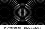 minimal three cycles sound wave | Shutterstock .eps vector #1022363287