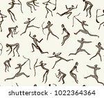 age african bowman warrior... | Shutterstock .eps vector #1022364364