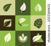 green leaf nature organic logos | Shutterstock .eps vector #1022364631