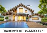 3d rendering of modern cozy... | Shutterstock . vector #1022366587
