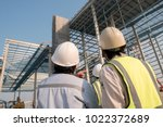 civil engineer and safety... | Shutterstock . vector #1022372689