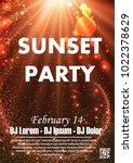 disco night party vector poster ... | Shutterstock .eps vector #1022378629