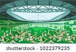 saudi arabia soccer fans | Shutterstock .eps vector #1022379235