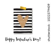 love you. valentines day... | Shutterstock .eps vector #1022379409