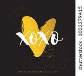 xo xo. valentines day... | Shutterstock .eps vector #1022379415