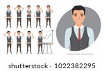 set of emotions for business... | Shutterstock .eps vector #1022382295