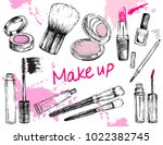 beauty store collection with... | Shutterstock .eps vector #1022382745