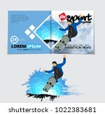 sport magazine layout with... | Shutterstock .eps vector #1022383681