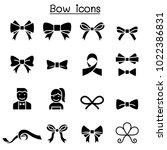 bow   ribbon icon set | Shutterstock .eps vector #1022386831