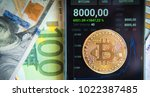bitcoin on the schedule of... | Shutterstock . vector #1022387485