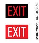 vector exit sign set | Shutterstock .eps vector #1022388871