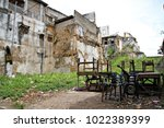 the back streets of stone town  ... | Shutterstock . vector #1022389399