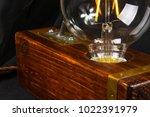 light fixture handmade in... | Shutterstock . vector #1022391979