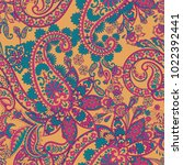 paisley vector seamless pattern.... | Shutterstock .eps vector #1022392441