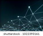abstract net concept   3d... | Shutterstock . vector #1022393161
